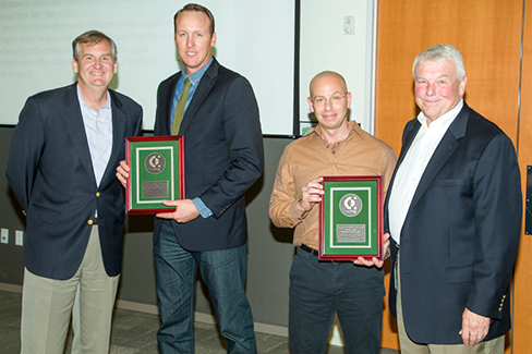 Robert Wallace of Delta Energy Center in California and Zach Smith of Westbrook Energy Center in Maine received the 2016 Ron Appleton Memorial Safety Award.