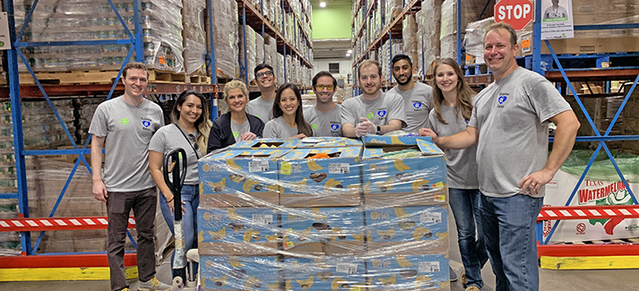 The Champion Energy Services team volunteered at the Houston Food Bank for Calpine in Our Communities Day.