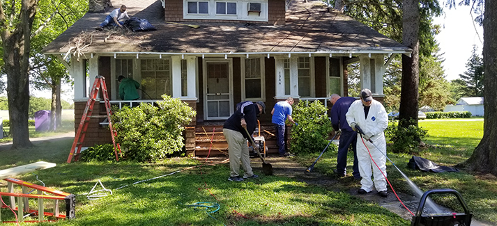 Employees from Calpine's New Jersey plants helped restore a local Big Brothers-Big Sisters headquarters.
