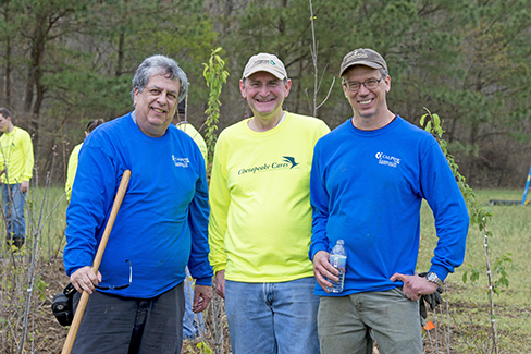 Thirty Calpine volunteers planted trees at the Nature Conservancy of Delaware's Milford Neck Preserve to celebrate Earth Day 2017.