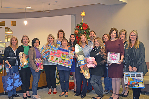 Calpine employees in the Dublin, California, office participate in the Family Giving Tree's Holiday Wish Drive each year.