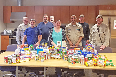 The team at Metcalf Energy Center in California donated to the Second Harvest Food Bank as part of Calpine's nationwide food drive campaign in May 2017.