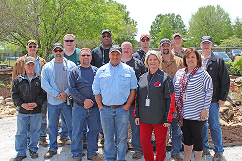 The team from Calpine's Morgan Energy Center in Alabama celebrated Earth Day by helping refurbish an outdoor classroom at a nearby middle school.