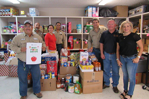 Employees at Calpine's Magic Valley Energy Center donated to the Buckner Rio Grande Children's Home in Mission, Texas, in May as part of Calpine's Food Drive Month.