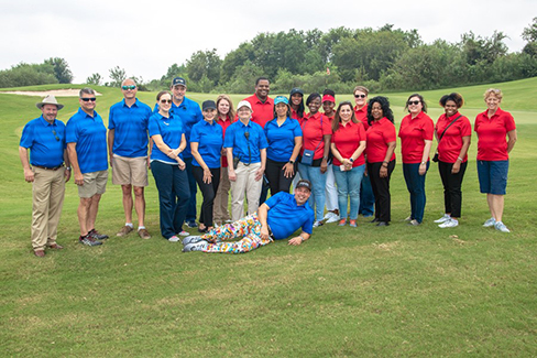 Dozens of Calpine employees volunteered at the Texas Regional Charity Golf Tournament in 2018.